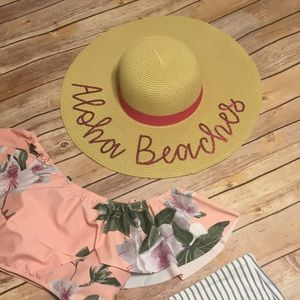 Accessories - 🏝 Aloha Beaches Straw Floppy Hat 🏝